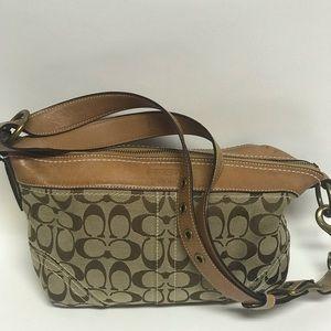 Coach signature print brown/khaki handbag